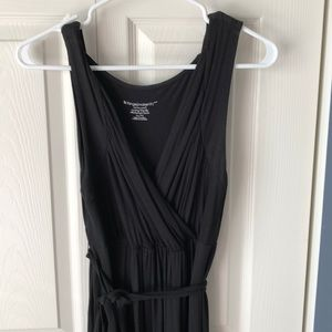Liz Lange maternity maxi dress, wrap front XL